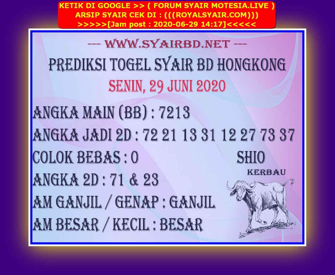 Kode syair Hongkong Senin 29 Juni 2020 167