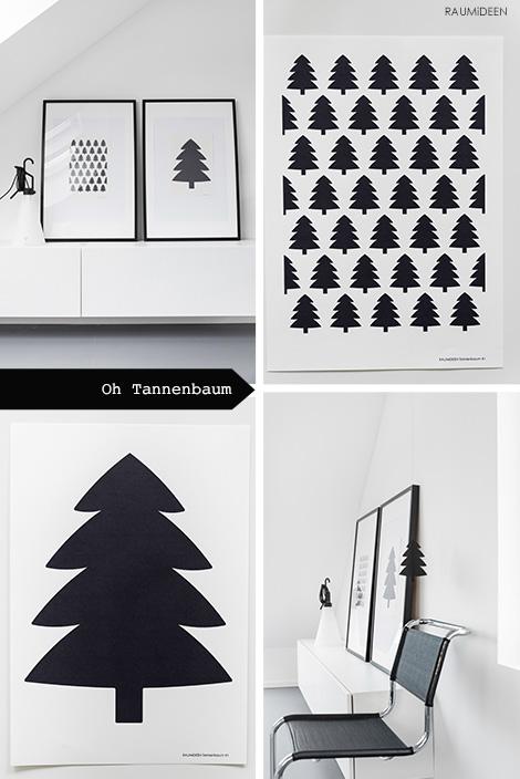Tannenbaumgrafiken und Tannenbaummuster als Druckvorlage