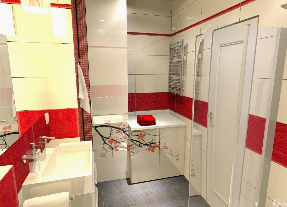 Diseños de baños en color rojo - Colores en Casa