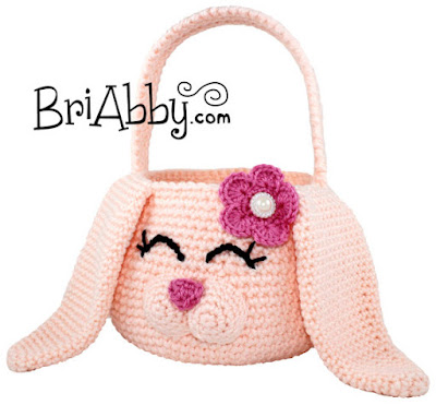 amigurumi crochet Easter Bunny basket
