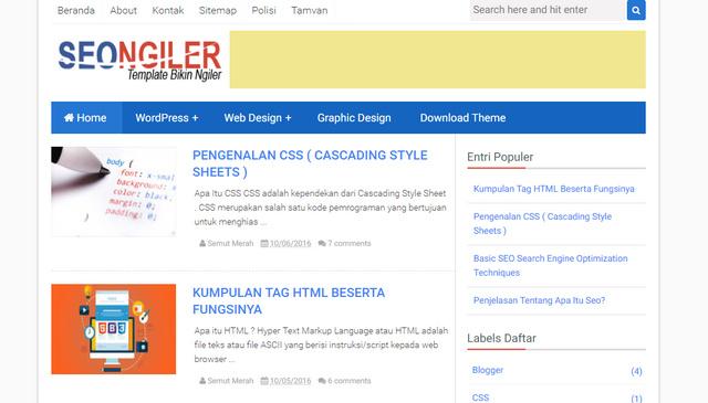 SEO Ngiler Responsive Blogger Templates