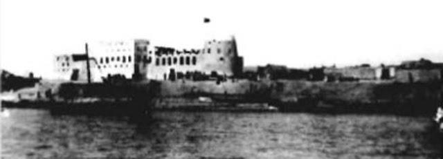قلعة محمد آل عبد الوهاب تاجر اللؤلؤ من دارين الواقعة في جزيرة تاروت 1905م