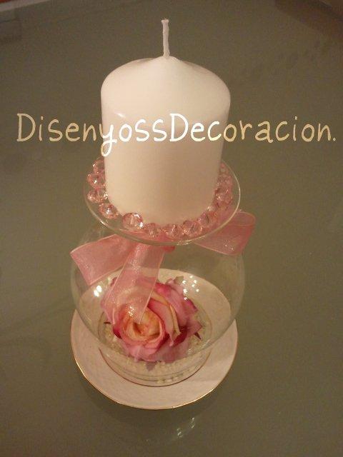 Disenyoss decoracion hoy centro de vela low cost - Copas decoradas con velas ...