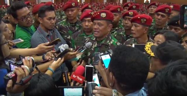 Panglima TNI Gatot Nurmantyo Batal Mutasi 85 Perwira