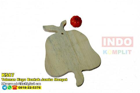 Talenan Kayu Bentuk Jambu Monyet