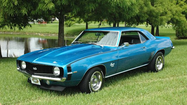 Classic Car Posters Chevrolet Camaro Ss 396