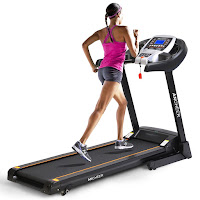 """Ancheer S9300 Bluetooth Treadmill, compatible with G-Fit app, 1-14 km/h speed range, 16.5"""" x 48.4"""" running deck, 12 preset programs, 2 manual adjustable inclines"""