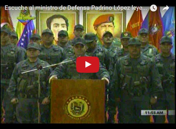 Padrino López volvió a pasar sobre la constitución