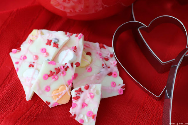 Easy Sweetheart's Bark for Valentine's Day recipe from Served Up With Love
