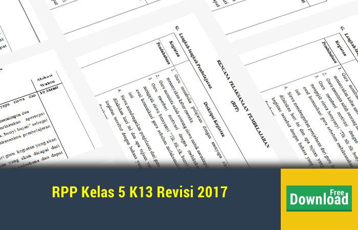 RPP Kelas 5 K13 Revisi 2017
