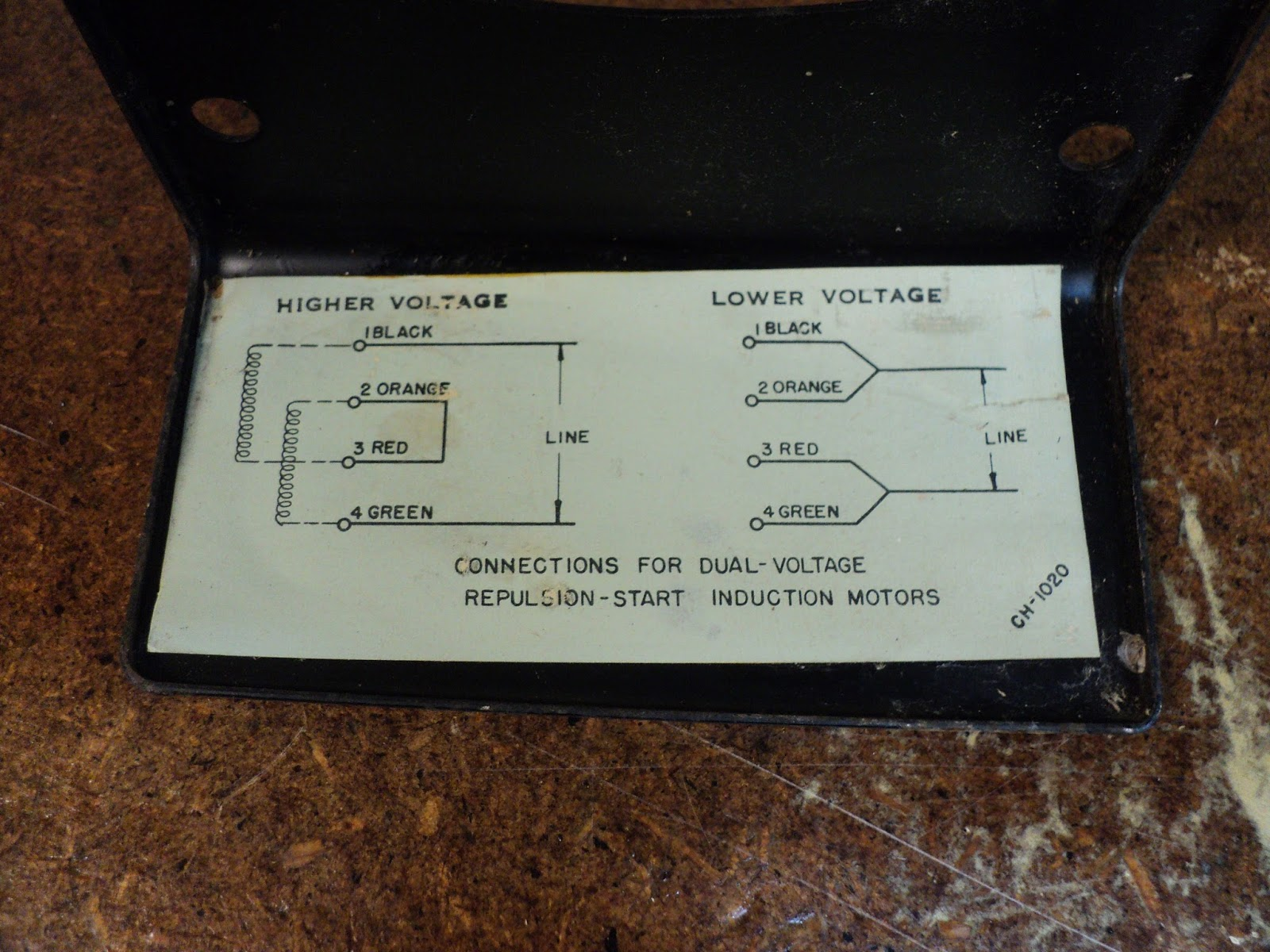 rouge river workshop an antique wagner electric hp electric motor the diagram doesn t mention reversibility so i guess that s not doable that s ok though because the motor s direction of rotation is correct for the