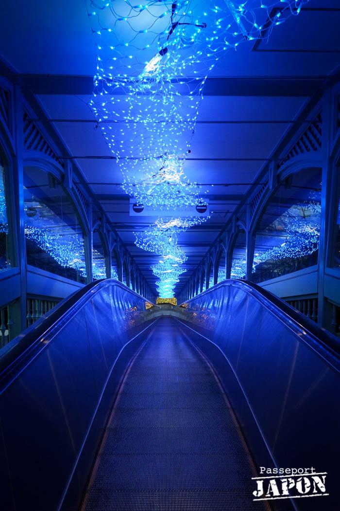Illuminations, escalator Glover Garden, Nagasaki