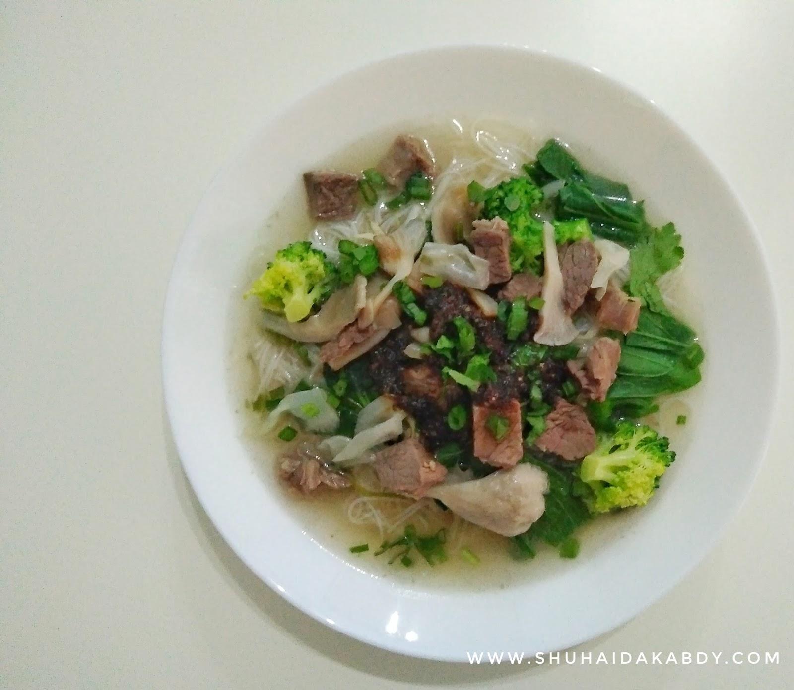 Resepi Mee Hoon Sup Daging