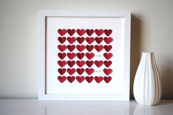 como hacer corazones rojos