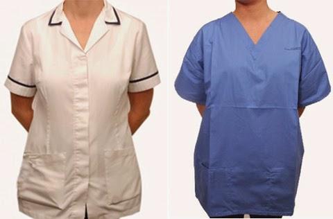 model baju kerja perawat gemuk terbaru