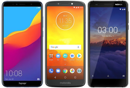Honor 7A vs Motorola Moto E5 vs Nokia 3.1