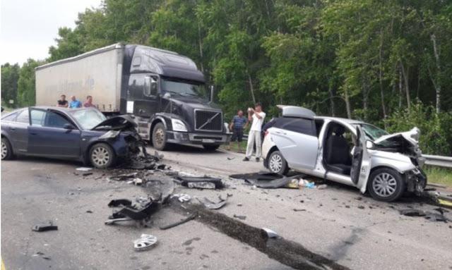 ДТП в Башкирии с летальным исходом, 7 пострадавших