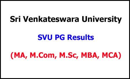 SVU PG Examination Results