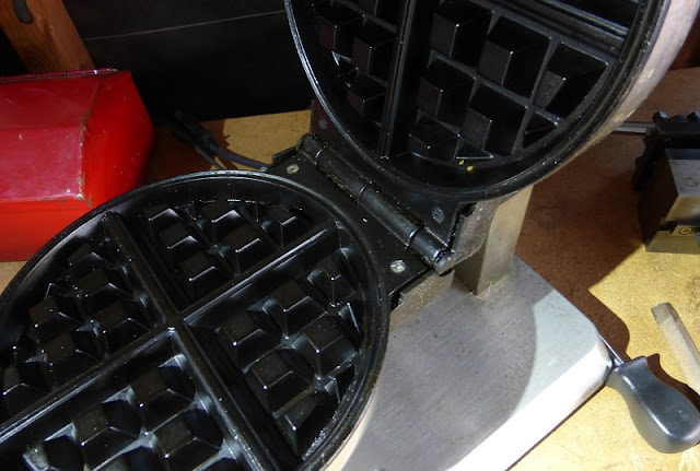 repaired waffle iron