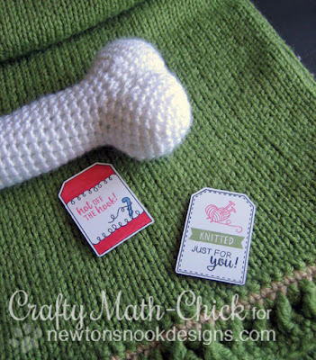 Handstamped Knitting & Crochet Tags by Crafty Math Chick | Tag Sampler by Newton's Nook Designs