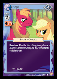 My Little Pony Nope Absolute Discord CCG Card