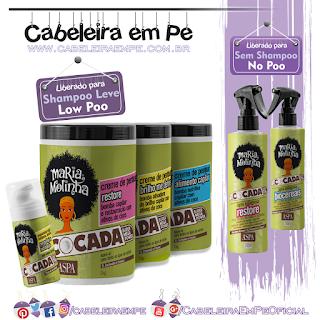Produtos Liberados Maria Molinha Cocada - Aspa (Águas Milagrosas liberadas para No Poo, Cremes para Pentear e Espuminha liberados para Low Poo)