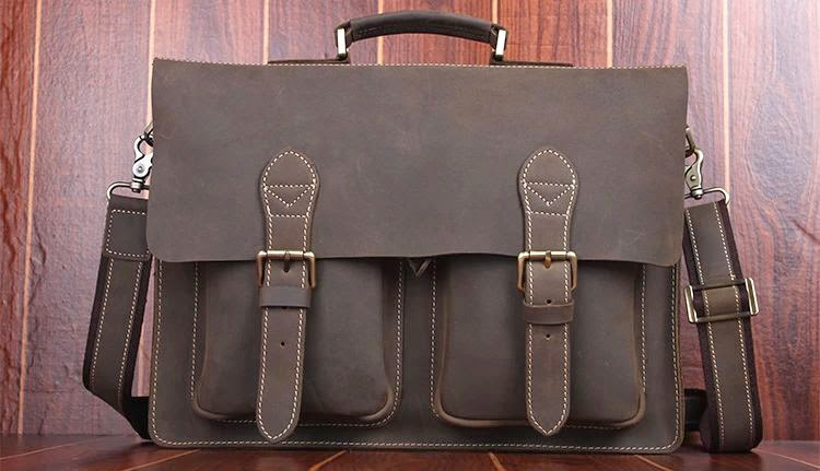 71b874471a Classic Handmade Leather College Brown Bag 3QU7D6ROPI