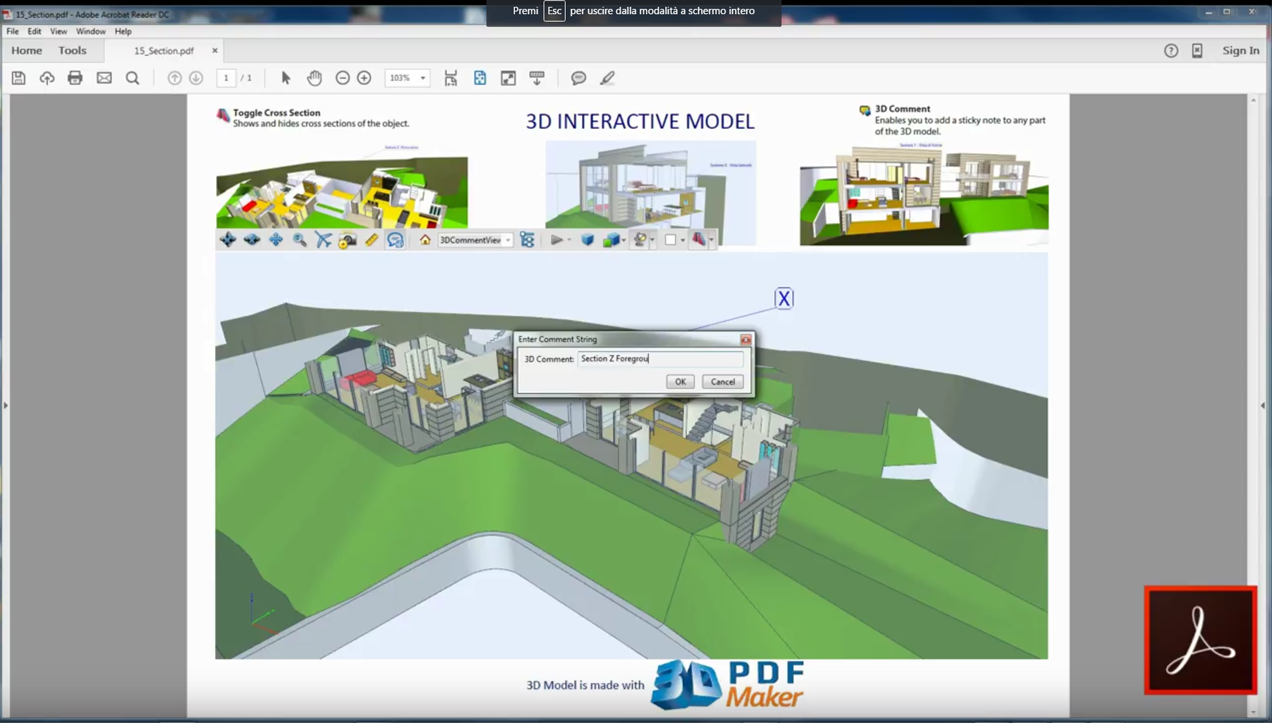 how to make a 3d pdf from revit