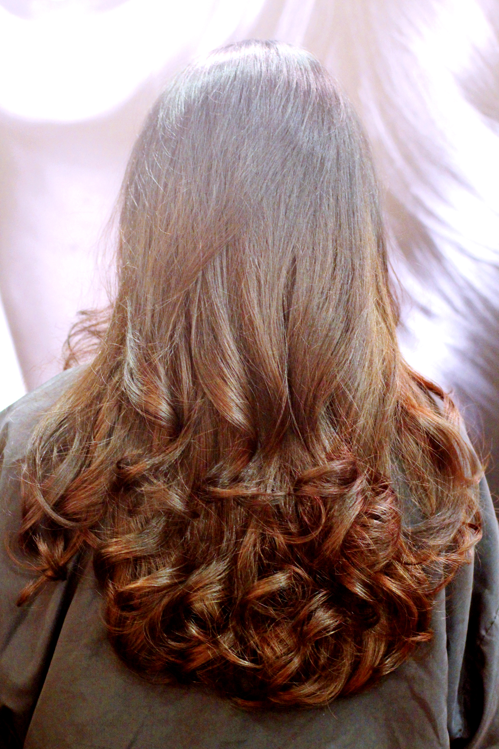 Bouncy blowdry at Rush Hair Salon, Kings Cross - London beauty blog
