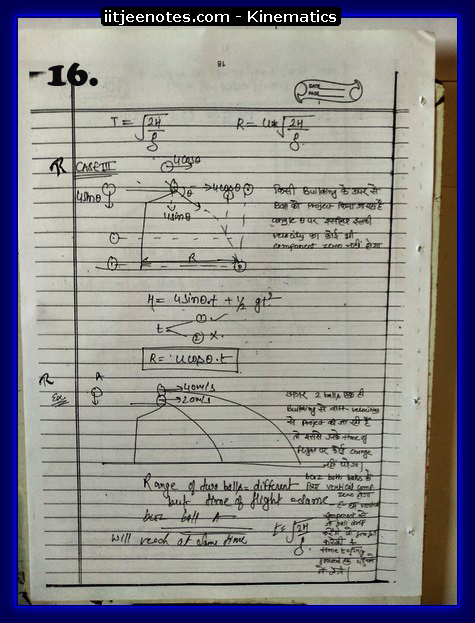 kinematics notes cbse