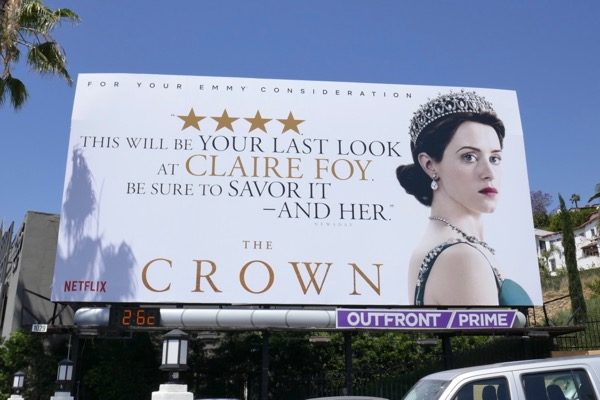 Crown Claire Foy 2018 Emmy consideration billboard