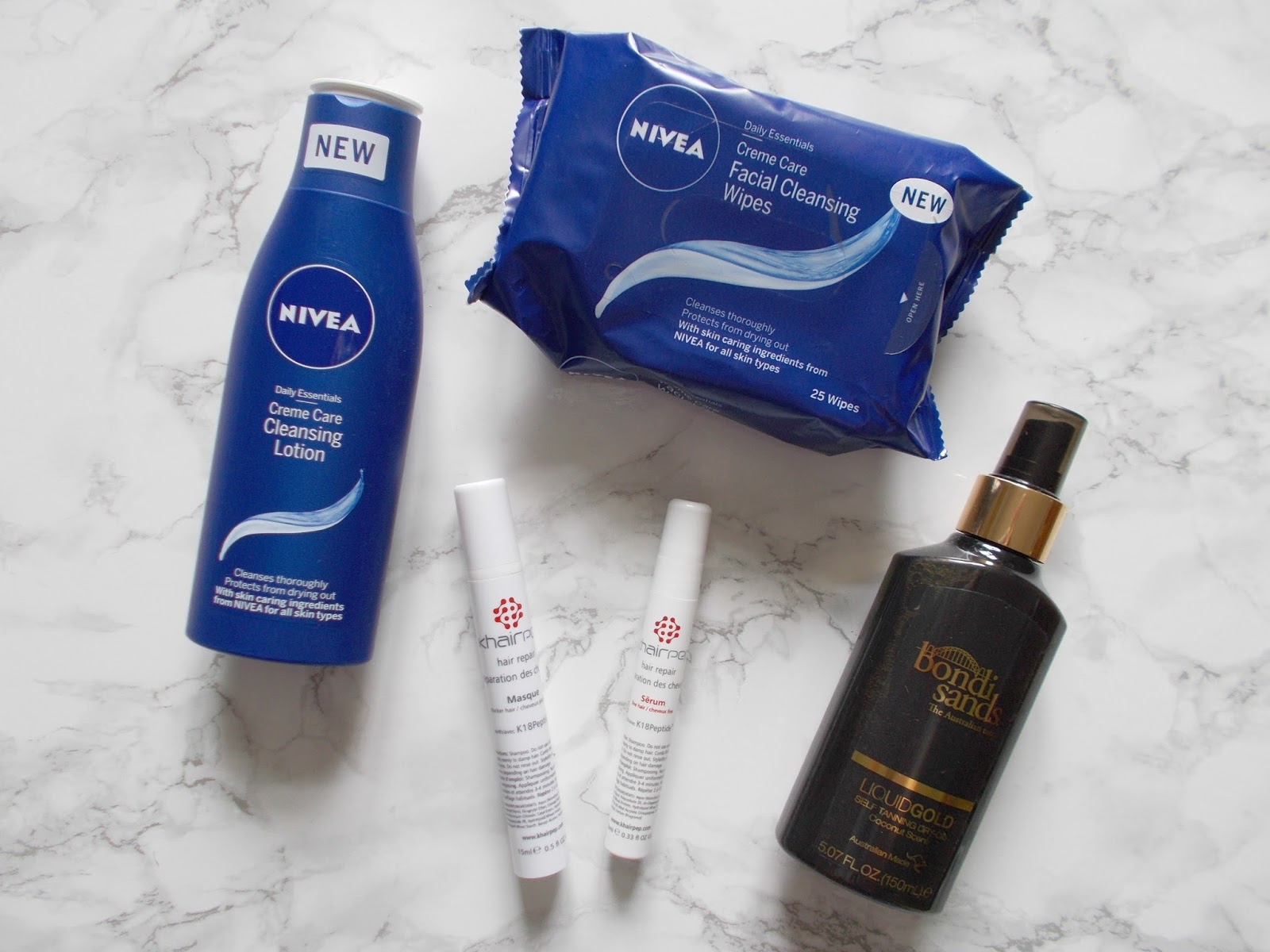 nivea daily essentials cleansing wipes facial cleansing lotion khairpep hair repair masque serum bondi sands liquid gold self tan oil review