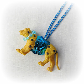 image two cheeky monkeys anthropologie inspired party animal necklace leopard jewellery