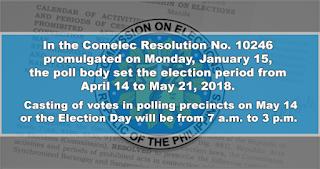 Comelec sets calendar of activities for barangay, SK polls