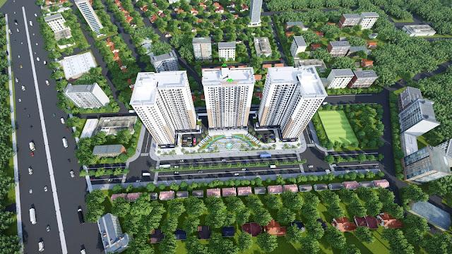 Phổi cảnh tổng thể Xuân Mai Tower