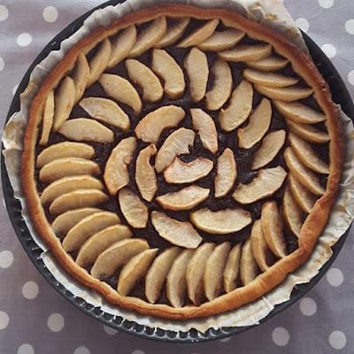Pensée positive Positive Thinking Cuisine Cooking Tarte pommes chocolat
