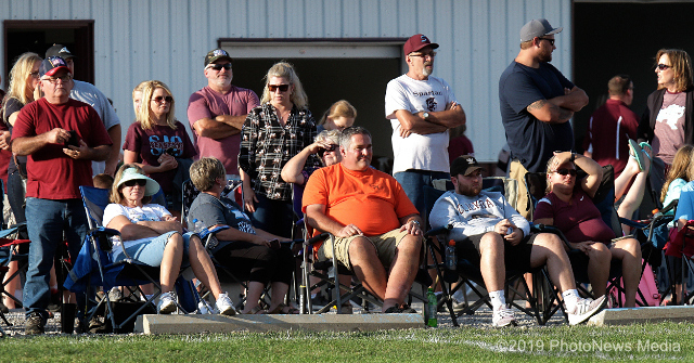 SJO fans and parents watch scrimmage game