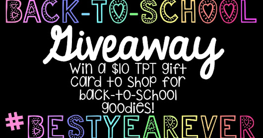 tattling to the teacher: Giveaway for TPT sale