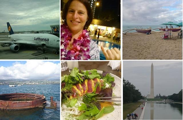 Collage meiner Reise nach Hawaii und Washington D.C. im September mit Fotos, die ich auf  Instagram getailt hatte
