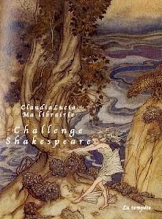 Logo du challenge Shakespeare de claudialucia blog Ma librairie