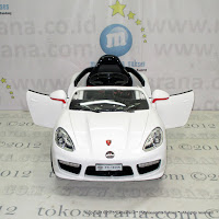 Mobil Mainan Aki Pliko PK1858N Passion Speed Sports Car M White