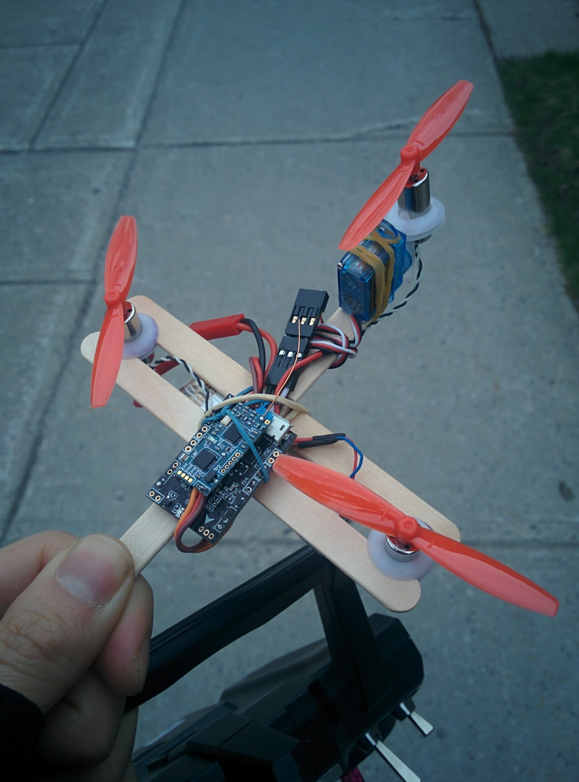 Simple Harmonic Motion Cheapest Brushed Tricopter Ever
