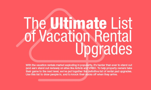 The Ultimate List to Vacation Rental Upgrades
