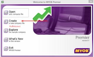 Set up awal MYOB ~ Materi Cara membuat data perusahaan baru MYOB