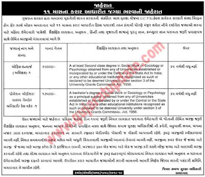 ICPS Ahmedabad Recruitment for Superintendent (Office In-Charge) & Probation Officer Posts 2018