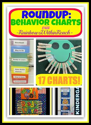 photo of: Behavior Charts in the Classroom (Behavior Chart RoundUP via RainbowsWithinReach)