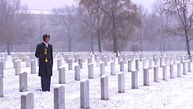 """Taps"" performed in Arlington National Cemetery"