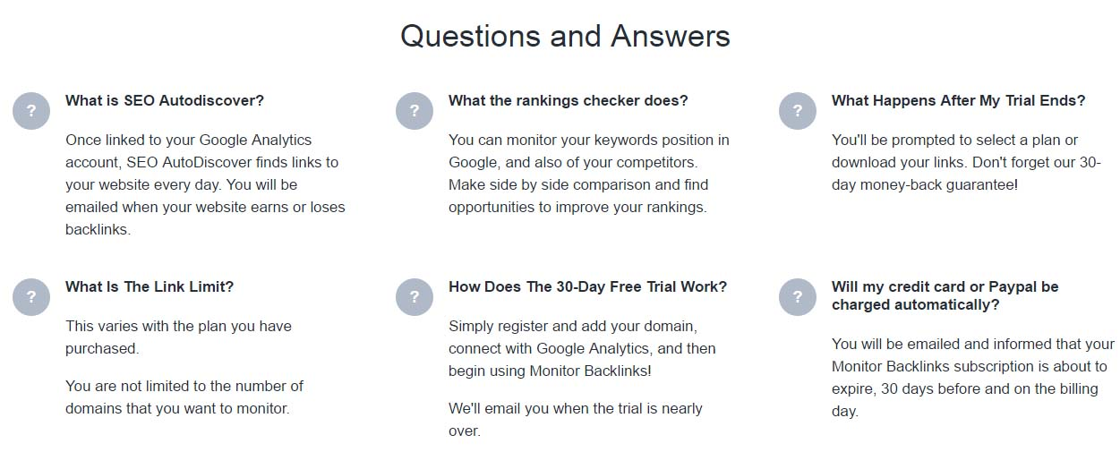 monitor backlinks questions and answers