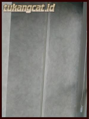 Cat dekoratif dinding motif semen