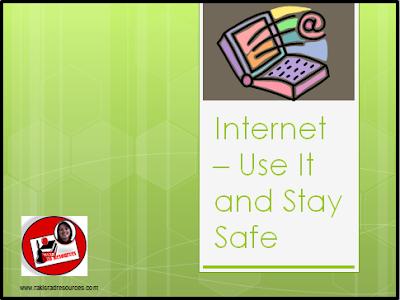 Internet safety power point for kindergarten, first grade, second grade, third grade, fourth grade and fifth grade from Raki's Rad Resources.